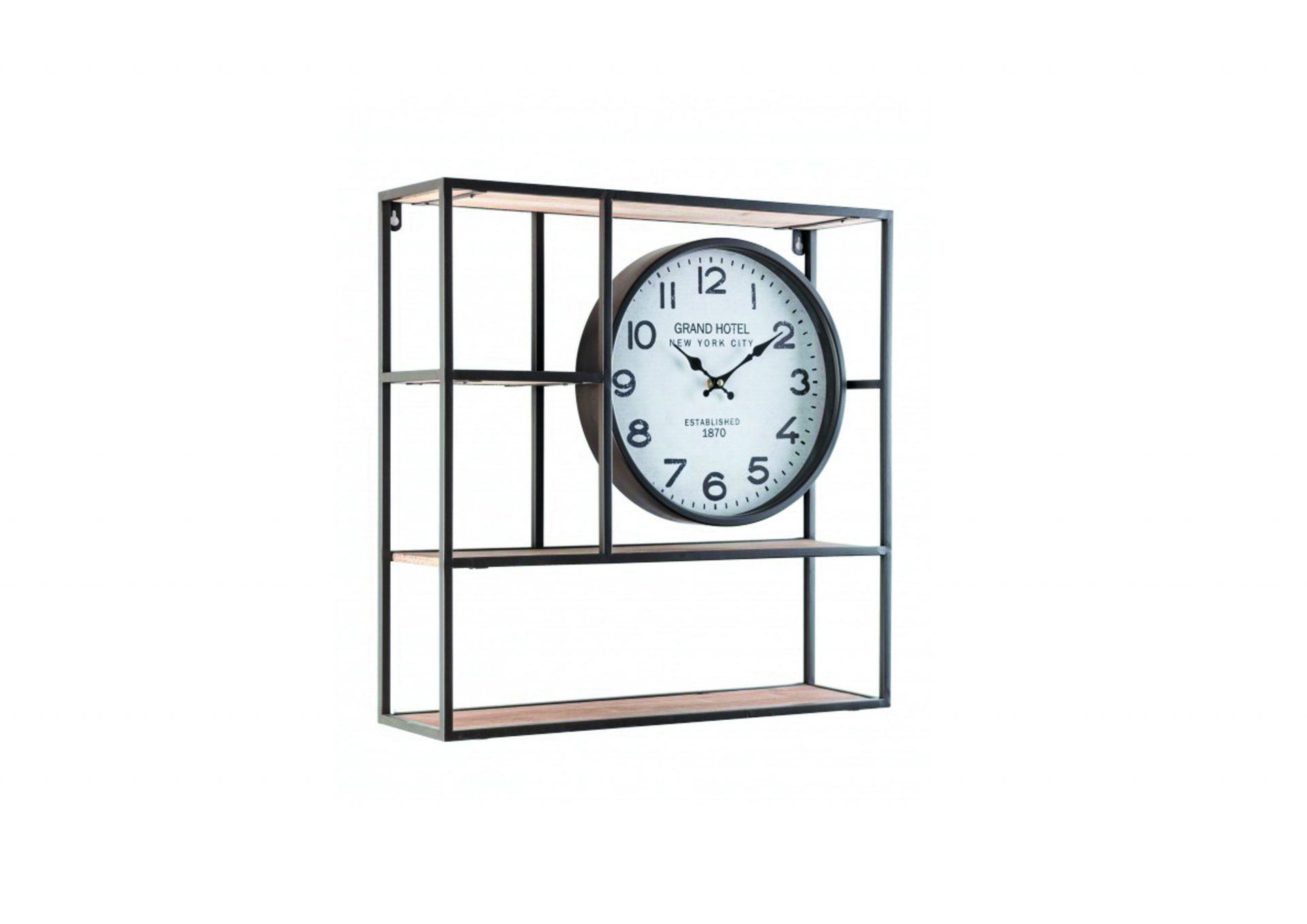 mensola con orologio web